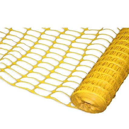Plastic temporary fence barrier