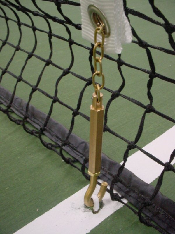 Tennis centre band brass swivel