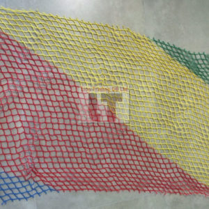 Multi coloured polyester netting