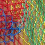 Multi coloured polyester netting