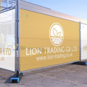 Branded Temporary Heras Fence Covers | Lion Trading GB Ltd