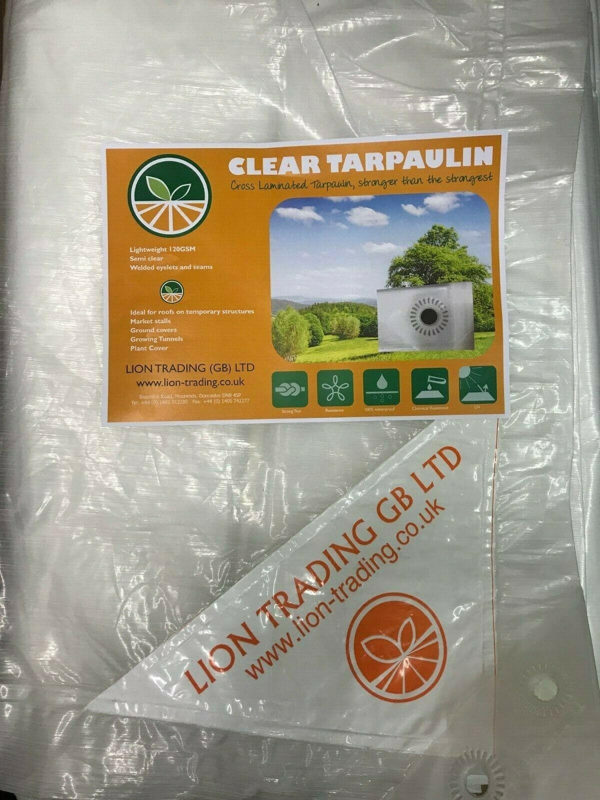 Clear tarpaulin sheet
