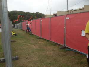 Event fence covers