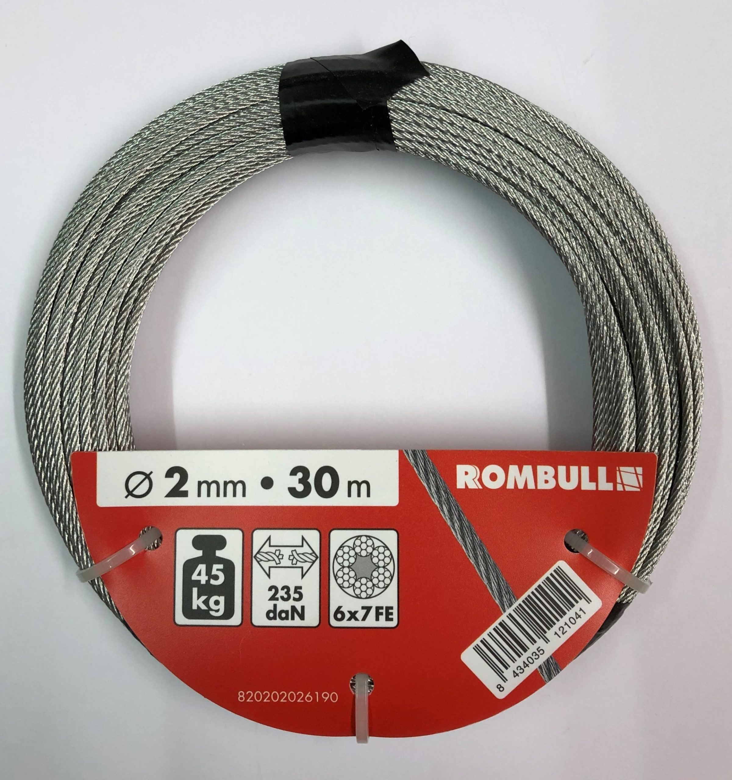 Steel wire rope 2x30m