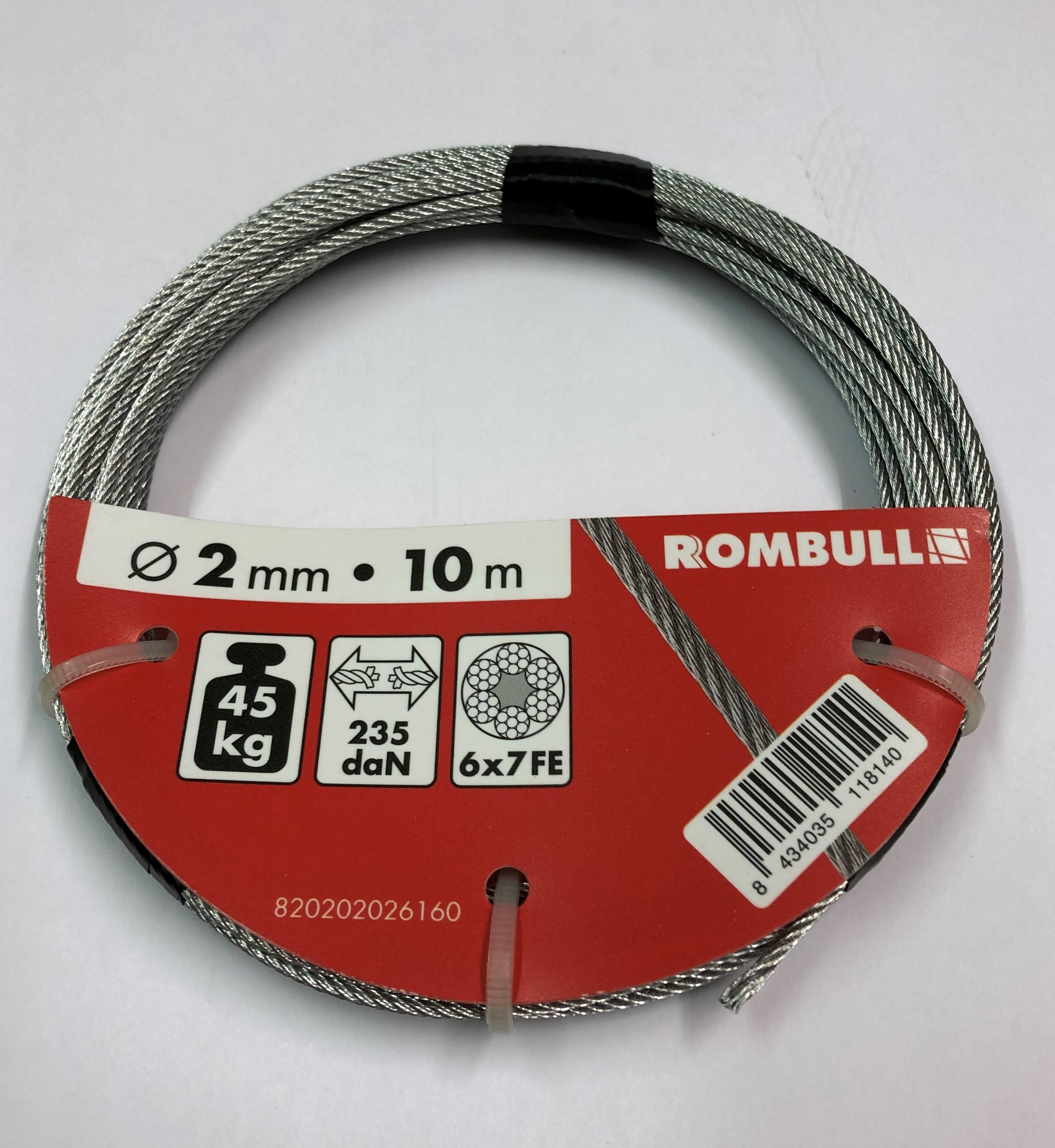Steel wire rope 2x10m