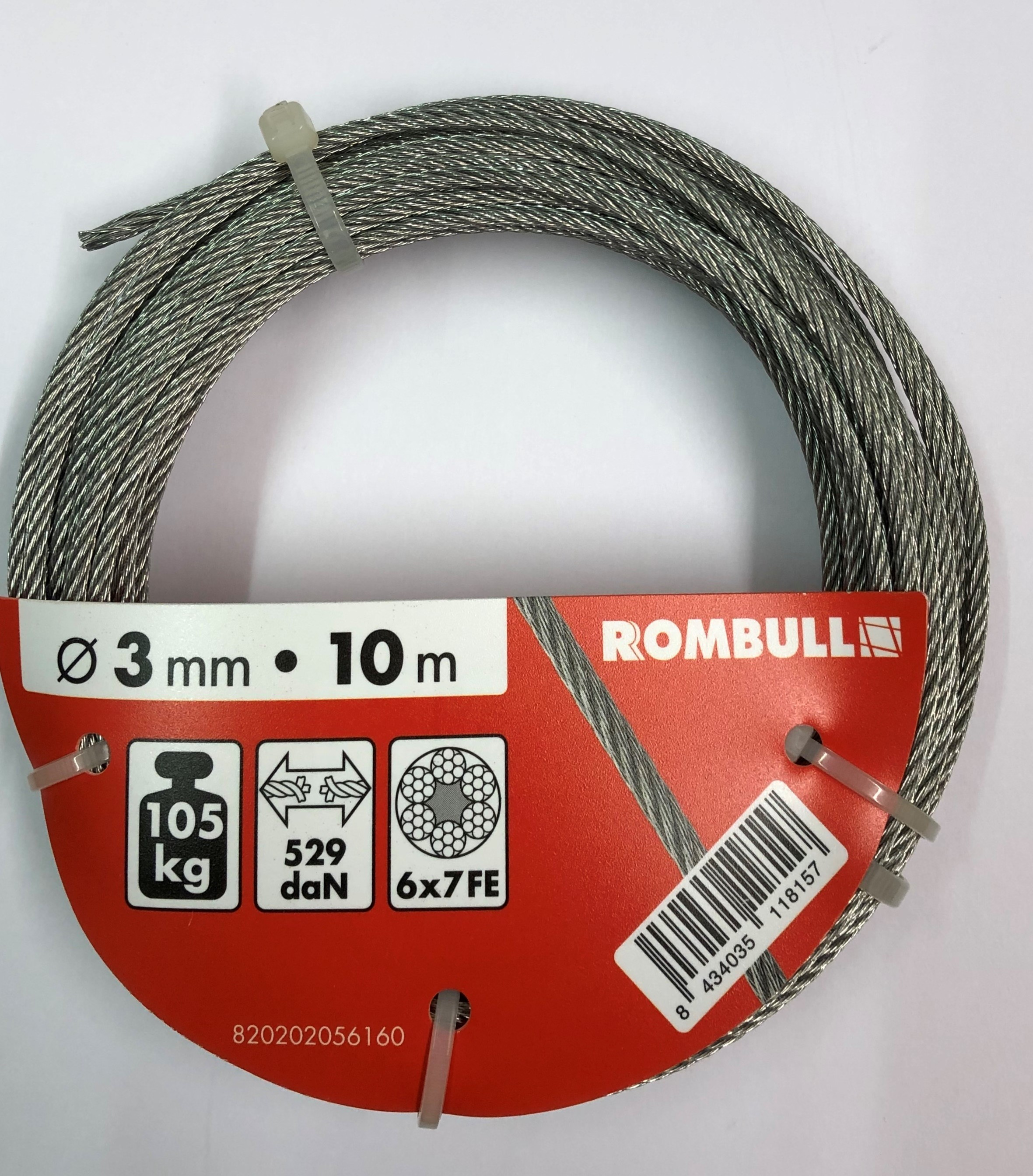 Steel wire rope 3x10m