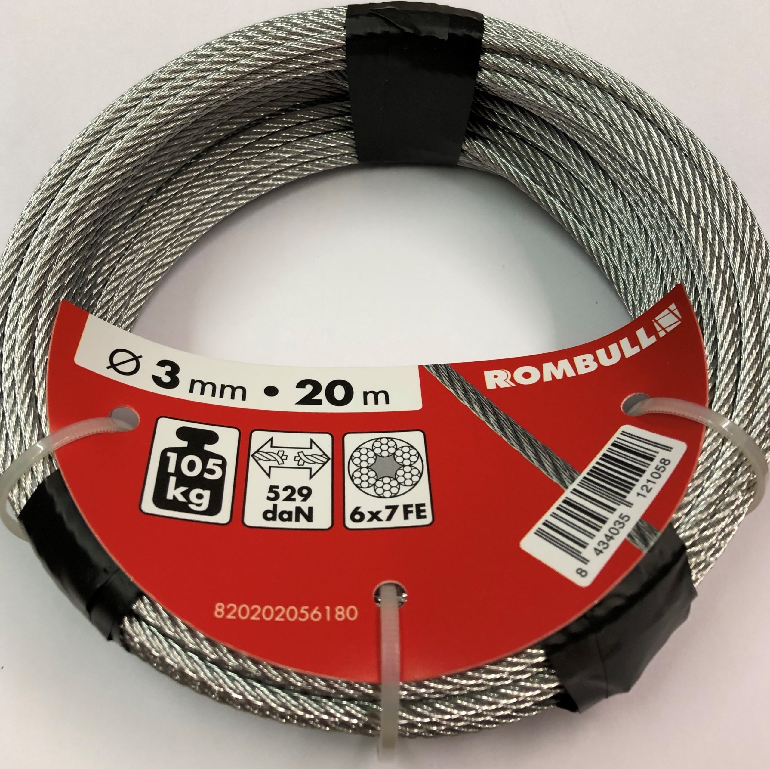 Steel wire rope 3x20m