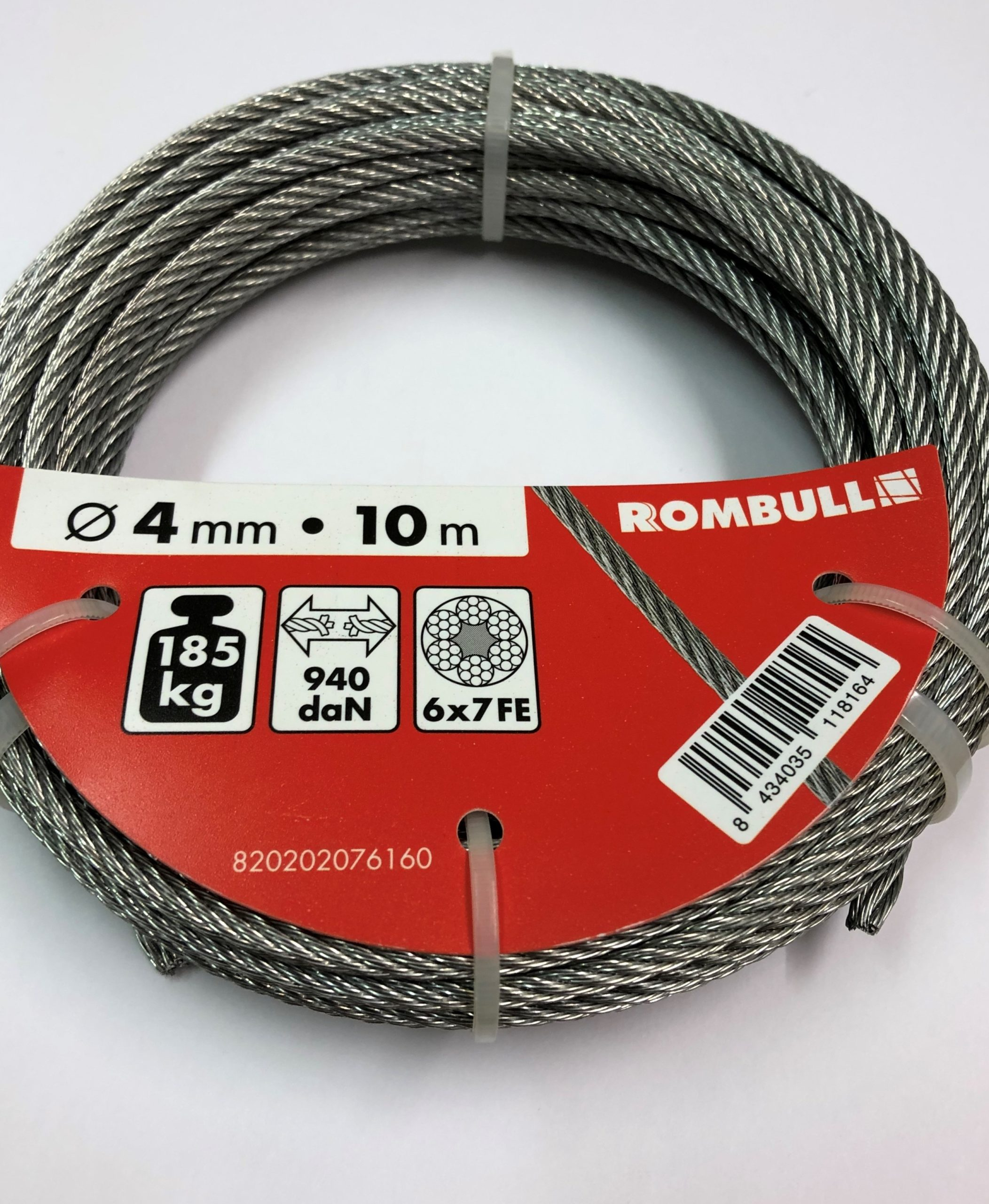 Steel wire rope 4x10m