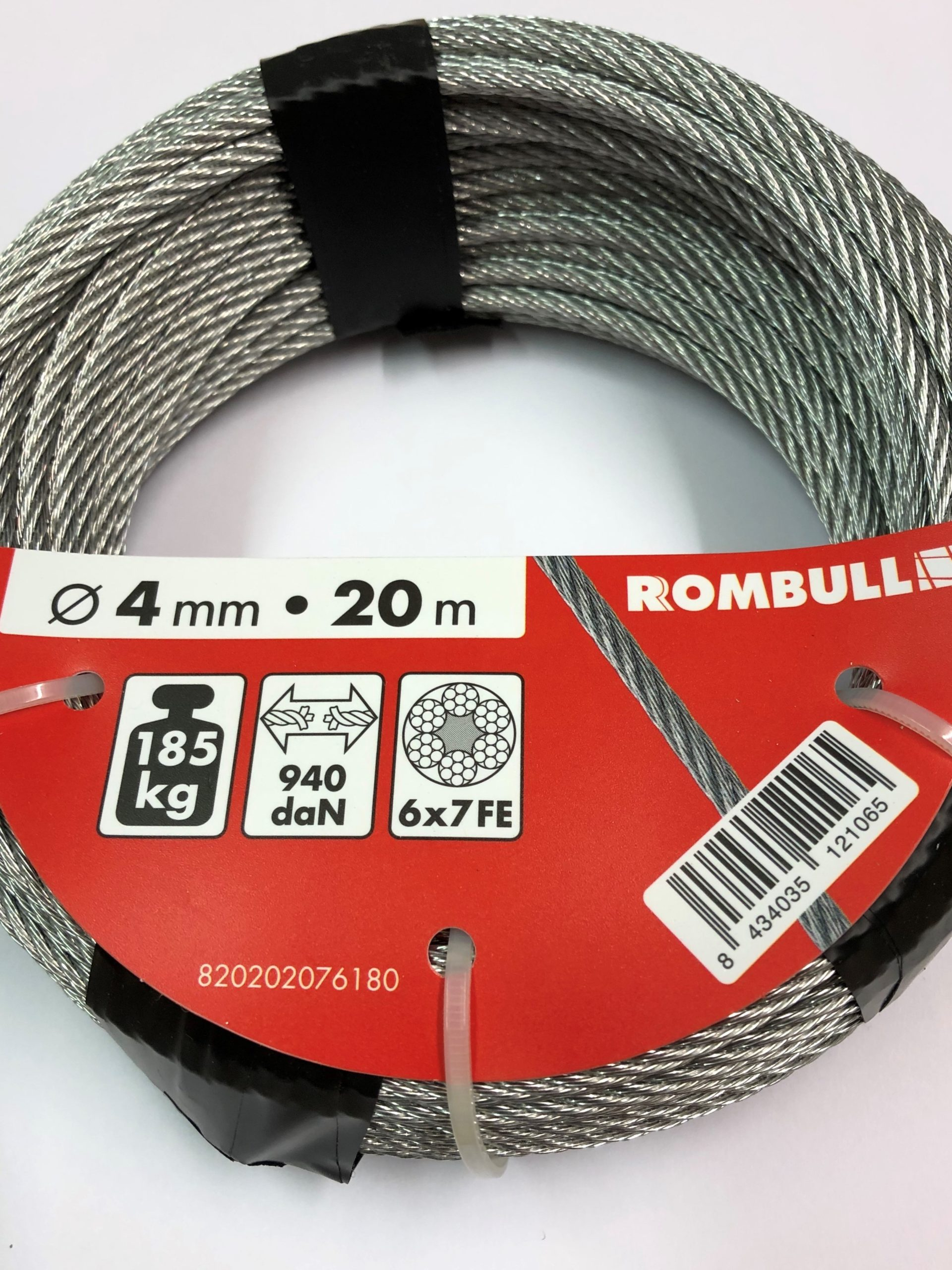 Steel wire rope 4x20m