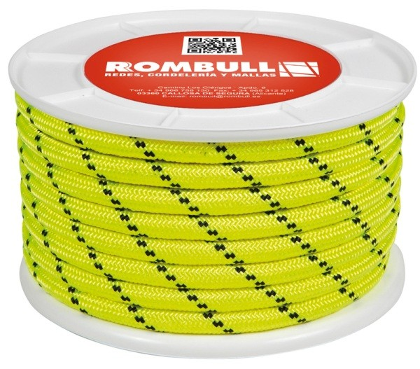 Fluorescent rope 100% Polyester double braided