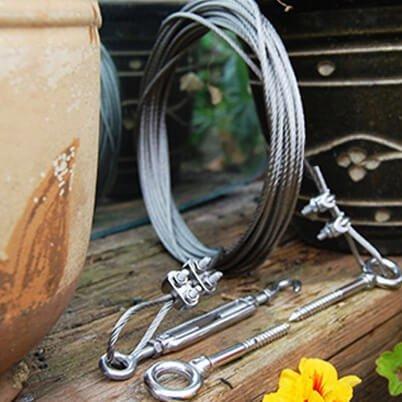 Steel wire rope tension kit